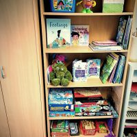 Books and games to play with at Anam Saor