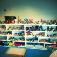 A selection of toys to play with at Anam Saor